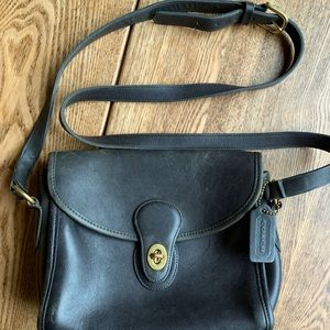 Vintage Coach Crossbody Leather Bag
